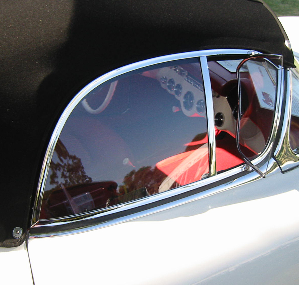 1953 Corvette side window