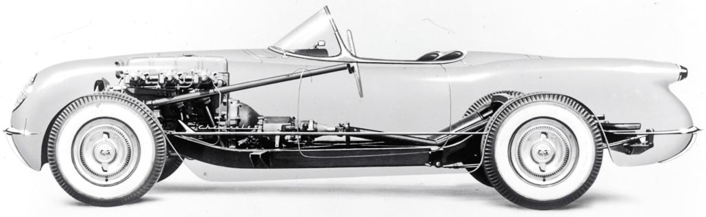 1953 Chevrolet Corvette X-Ray View