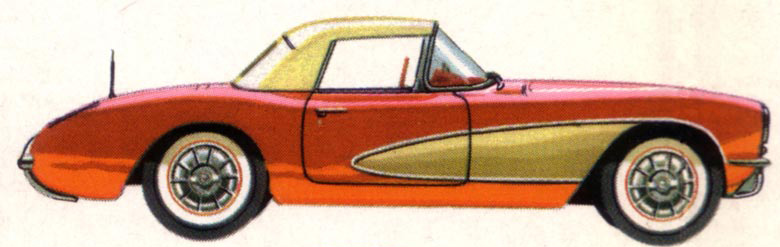 1957 Chevrolet Corvette with Convertible Top (brochure illustration)