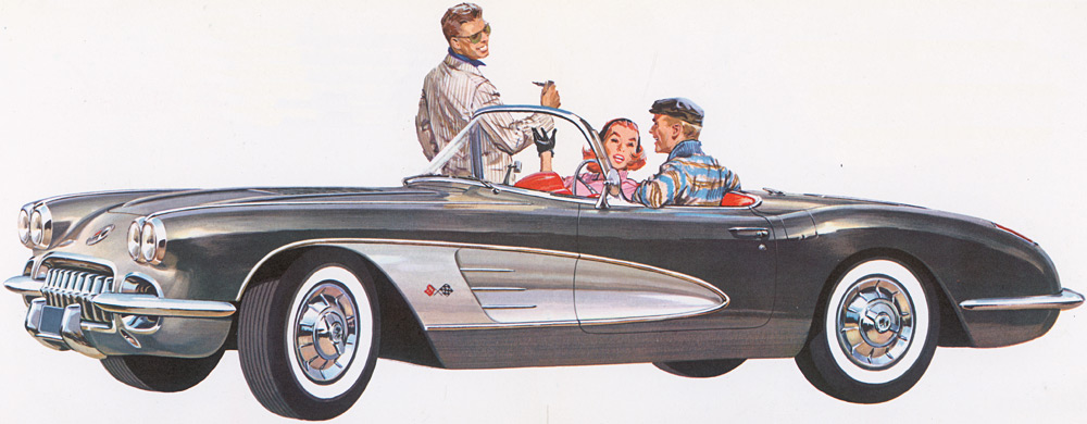 1958 Chevrolet Corvette Brochure Illustration