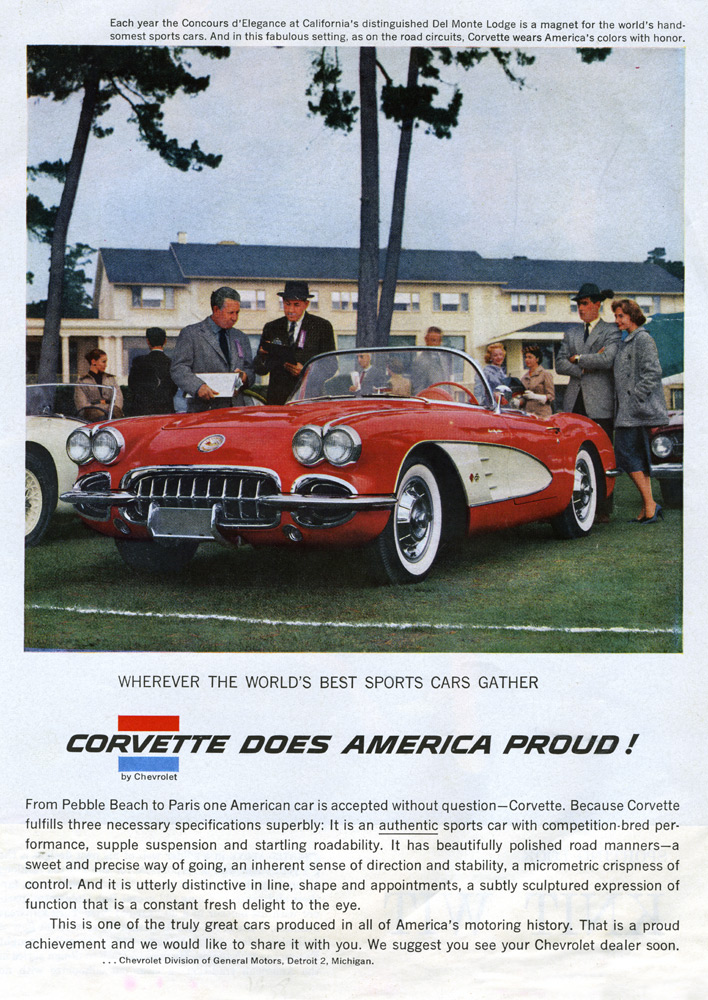 1958 Chevrolet Corvette Magazine Ad