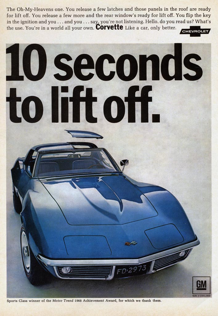 what new car did chevy release in 19681968 Corvette