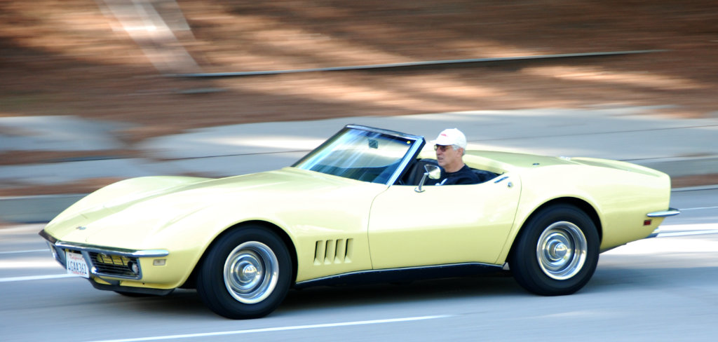 1968 Chevrolet Corvette in Safari Yellow Motion Blur Photograph
