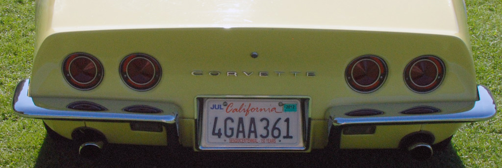 1968 Chevrolet Corvette Tail Lights