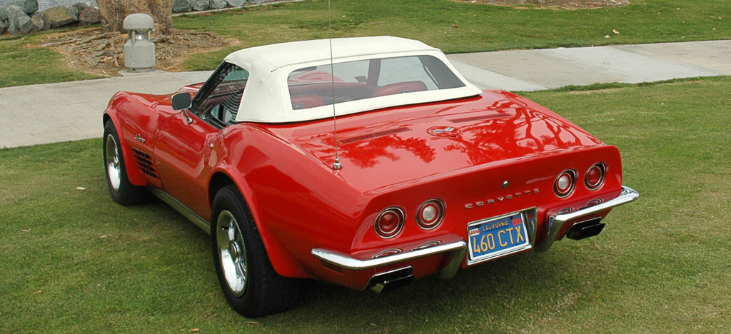 1970 Chevrolet Corvette in Monza Red