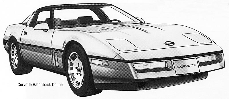 1984 Chevrolet Corvette Newspaper Image