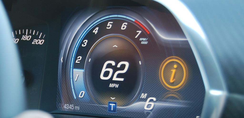 Chevrolet Corvette C7 Speedometer