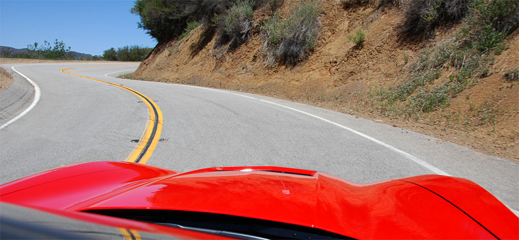 C7 Corvette Driving the Twisties