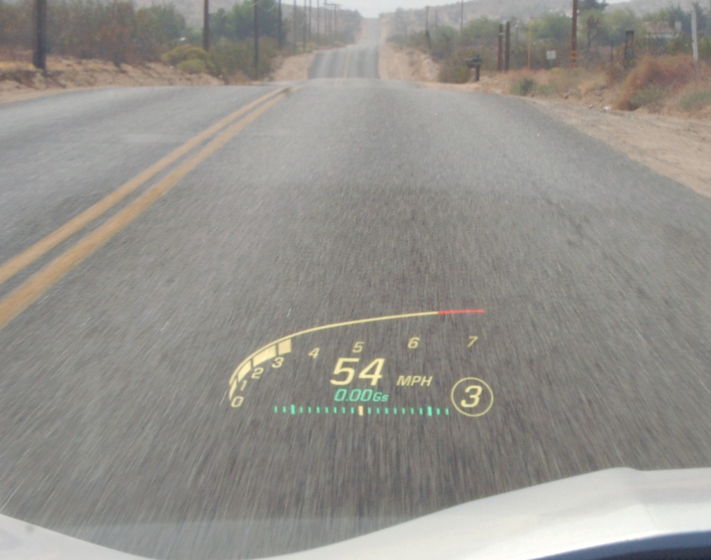 Chevrolet Corvette C7 Heads Up Display
