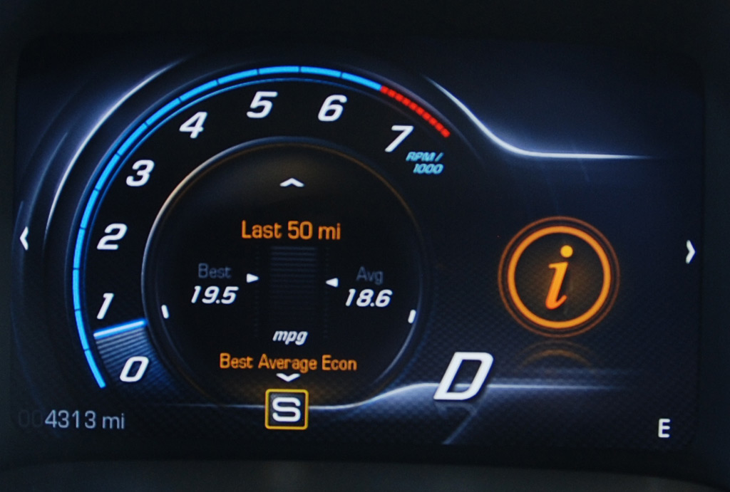 2014 Chevrolet Corvette Fuel Economy Display