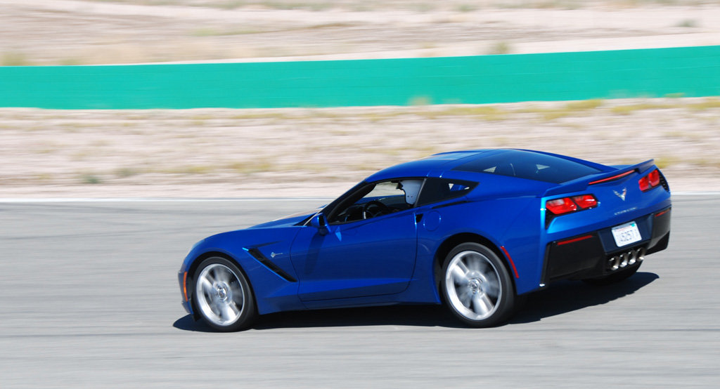 2016 Corvette in Laguna Blue Tintcoat at MPG Track Day