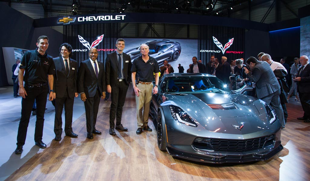 Chevrolet world premiere of the Corvette C7 Grand Sport at the Geneva Motor Show