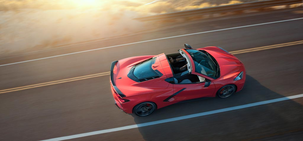 2020 Chevrolet Corvette C8 Stingray Targe Roof Off
