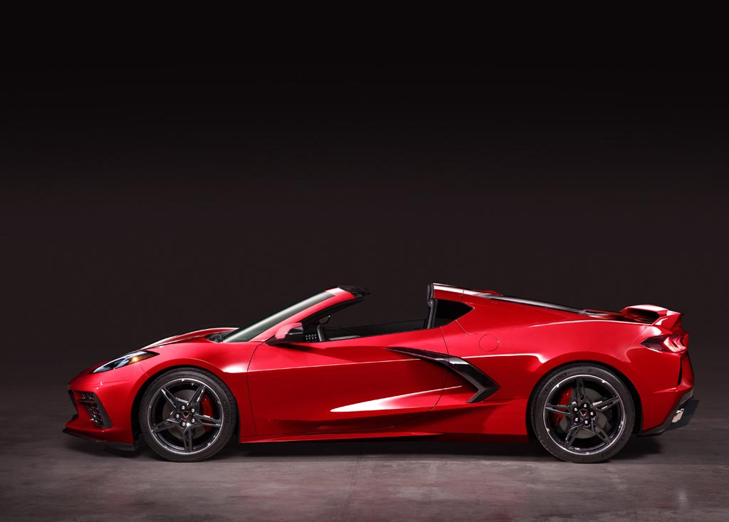 2020 Chevrolet Corvette C8 Stingray Targa Roof Off