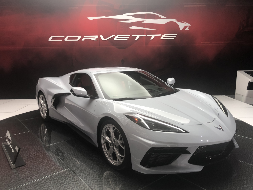 2020 Corvette C8 in Ceramic Matrix Gray Metallic on Display at the LA Auto Show