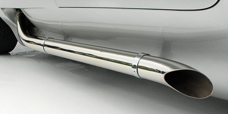 1959 Sting Ray Racer side pipe detail