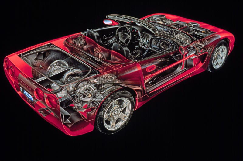 1998 Chevrolet Corvette Convertible David Kimble Illustration