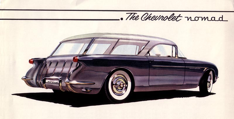 Early Chevrolet Nomad Convept Drawing