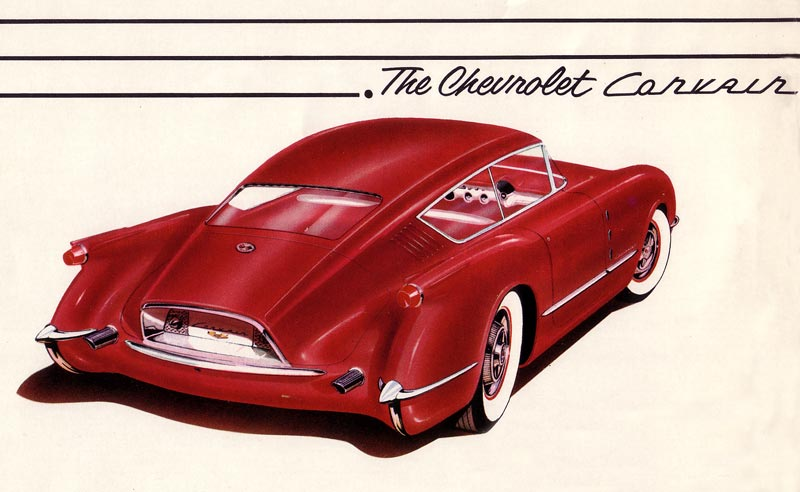 Early Chevrolet Corvair Convept Drawing