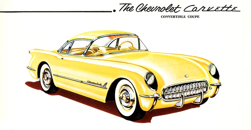 Early Chevrolet Corvette Convept Drawing