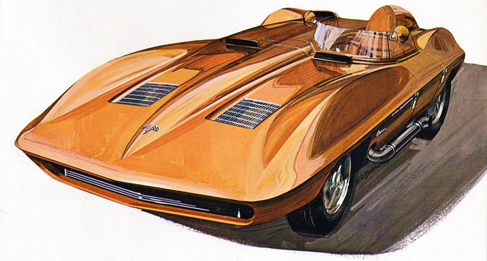 Early Sting Ray Racer Concept Drawing