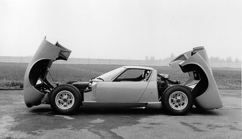 Lamborghini Miura, early mid engine car