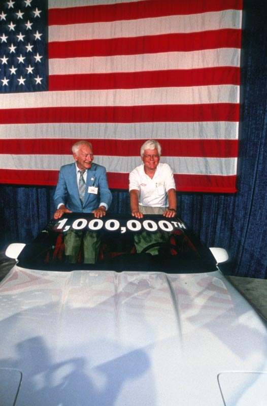 1,000,000th Corvette ceremony with Zora Arkus-Duntov and Dave McLellan